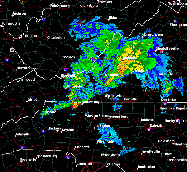 Radar Image for Severe Thunderstorms near Fancy Gap, VA at 4/14/2019 5:13 PM EDT