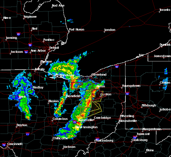 Radar Image for Severe Thunderstorms near Plainfield, OH at 4/14/2019 5:23 PM EDT