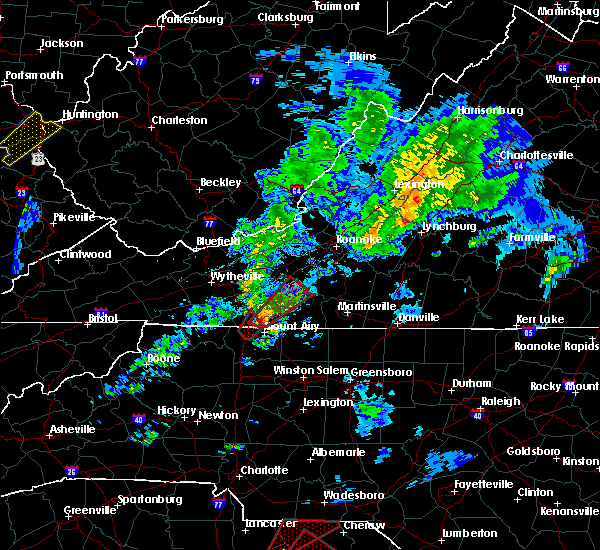 Radar Image for Severe Thunderstorms near Fancy Gap, VA at 4/14/2019 5:29 PM EDT