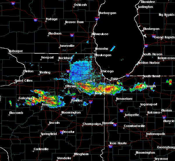 Radar Image for Severe Thunderstorms near Minooka, IL at 6/10/2015 7:58 PM CDT