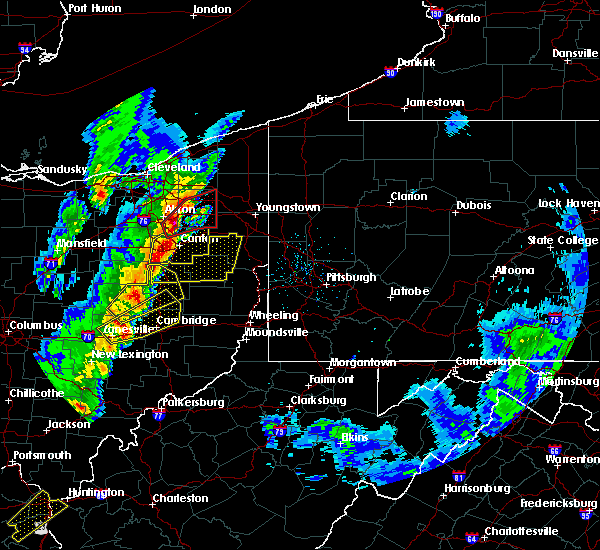 Radar Image for Severe Thunderstorms near Washingtonville, OH at 4/14/2019 5:33 PM EDT
