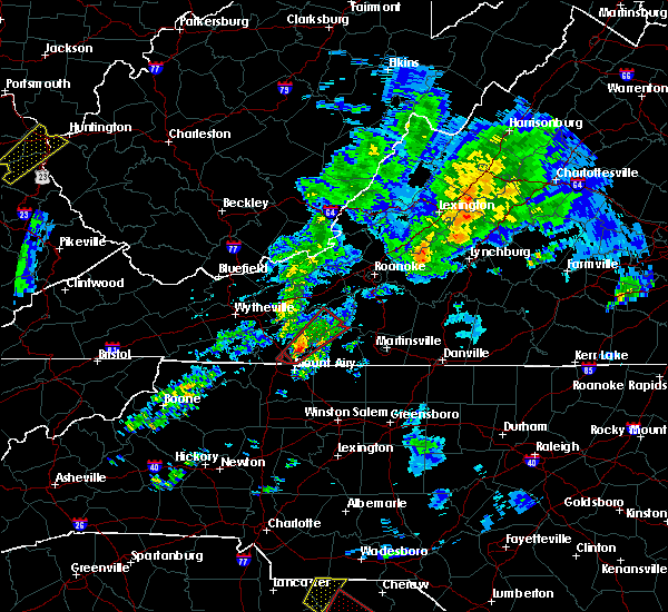 Radar Image for Severe Thunderstorms near Cana, VA at 4/14/2019 5:33 PM EDT