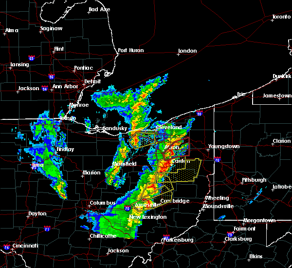 Radar Image for Severe Thunderstorms near Broadview Heights, OH at 4/14/2019 5:38 PM EDT