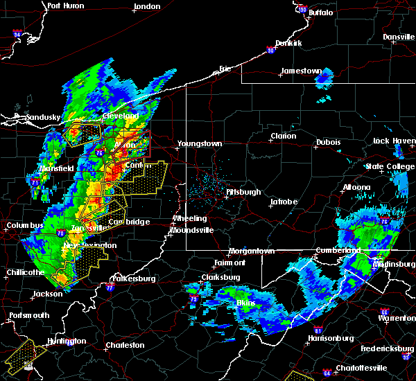Radar Image for Severe Thunderstorms near Plainfield, OH at 4/14/2019 5:41 PM EDT