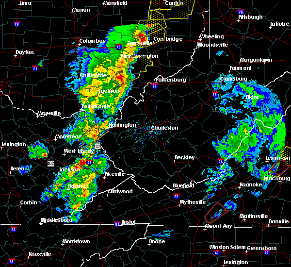 Radar Image for Severe Thunderstorms near Chesterhill, OH at 4/14/2019 5:41 PM EDT