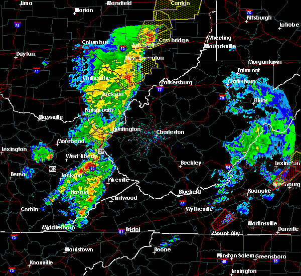 Radar Image for Severe Thunderstorms near Huntington, WV at 4/14/2019 5:45 PM EDT