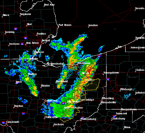 Radar Image for Severe Thunderstorms near Meyers Lake, OH at 4/14/2019 5:51 PM EDT