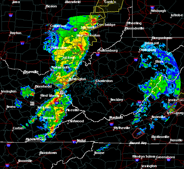 Radar Image for Severe Thunderstorms near Huntington, WV at 4/14/2019 5:51 PM EDT