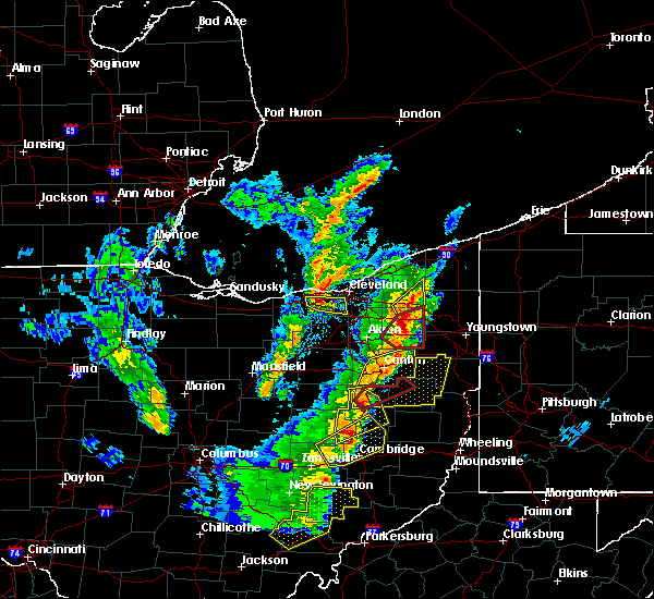 Radar Image for Severe Thunderstorms near Plainfield, OH at 4/14/2019 5:51 PM EDT