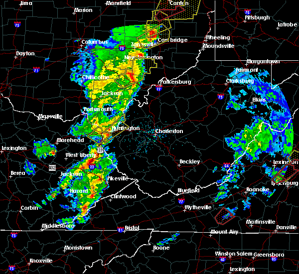 Radar Image for Severe Thunderstorms near Huntington, WV at 4/14/2019 5:52 PM EDT