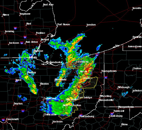 Radar Image for Severe Thunderstorms near Kirtland Hills, OH at 4/14/2019 5:54 PM EDT