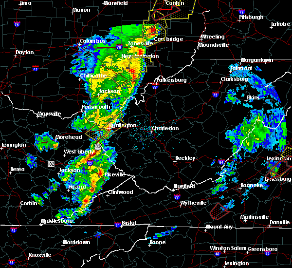 Radar Image for Severe Thunderstorms near Huntington, WV at 4/14/2019 5:58 PM EDT