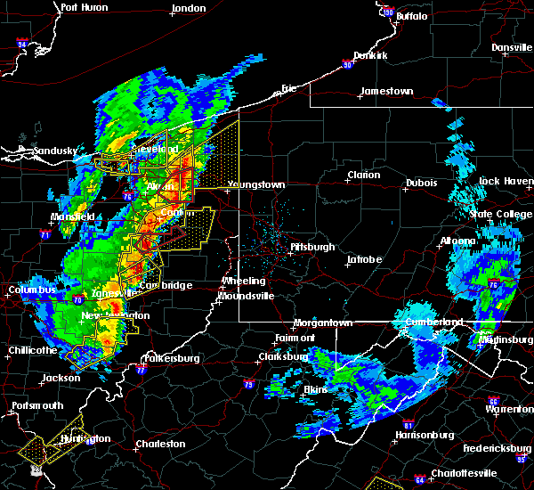Radar Image for Severe Thunderstorms near Campbell, OH at 4/14/2019 6:00 PM EDT