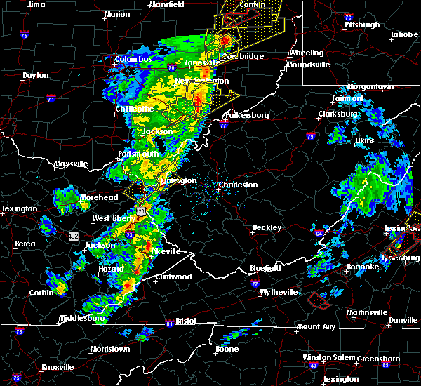 Radar Image for Severe Thunderstorms near Chesterhill, OH at 4/14/2019 6:00 PM EDT