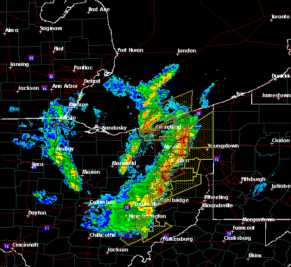 Radar Image for Severe Thunderstorms near Roaming Shores, OH at 4/14/2019 6:01 PM EDT