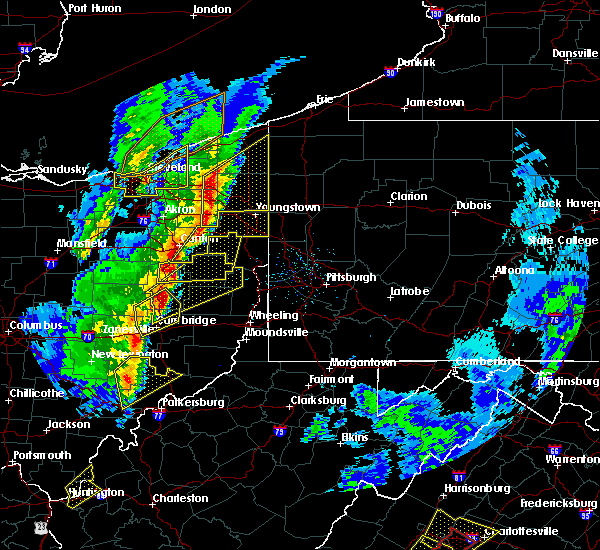 Radar Image for Severe Thunderstorms near Tuscarawas, OH at 4/14/2019 6:04 PM EDT