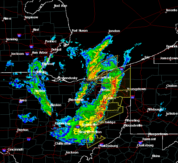 Radar Image for Severe Thunderstorms near Kirtland Hills, OH at 4/14/2019 6:07 PM EDT