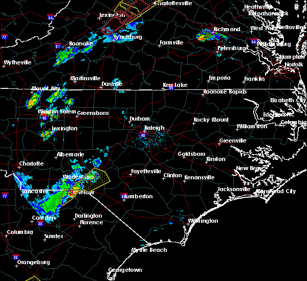 Radar Image for Severe Thunderstorms near Laurel Hill, NC at 4/14/2019 6:16 PM EDT