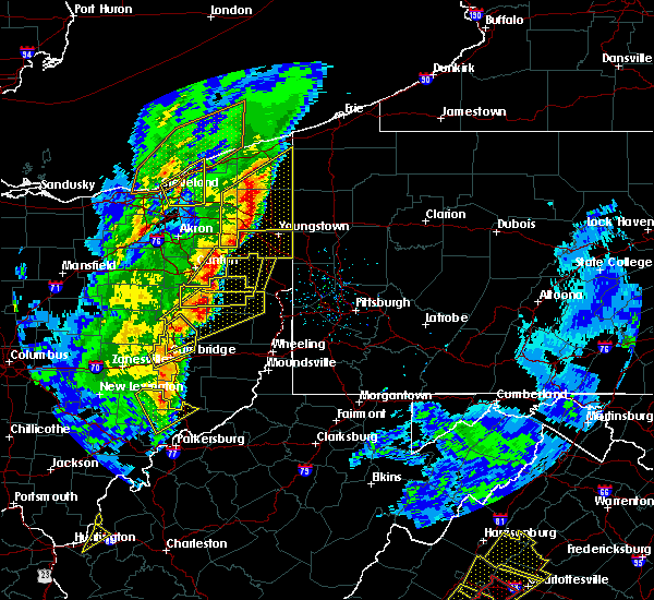 Radar Image for Severe Thunderstorms near Sandyville, OH at 4/14/2019 6:16 PM EDT