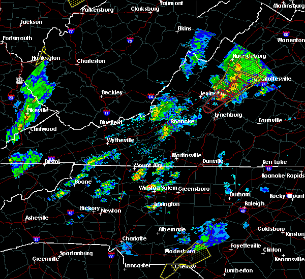 Radar Image for Severe Thunderstorms near Wintergreen, VA at 4/14/2019 6:17 PM EDT