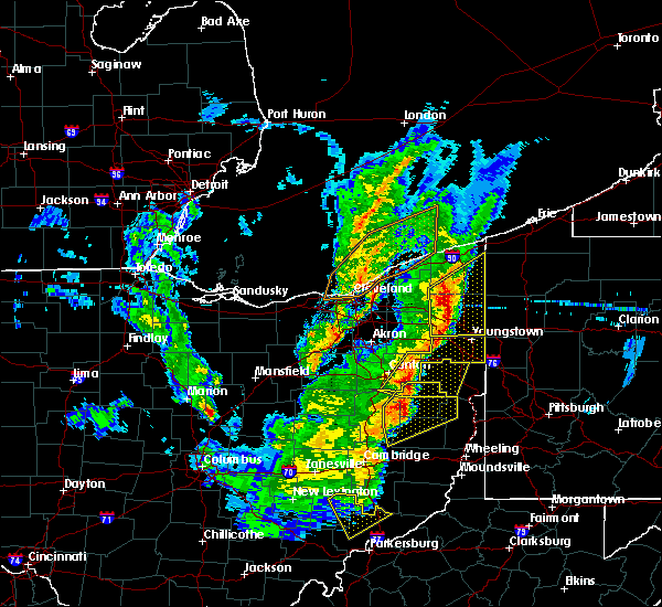 Radar Image for Severe Thunderstorms near Roaming Shores, OH at 4/14/2019 6:19 PM EDT