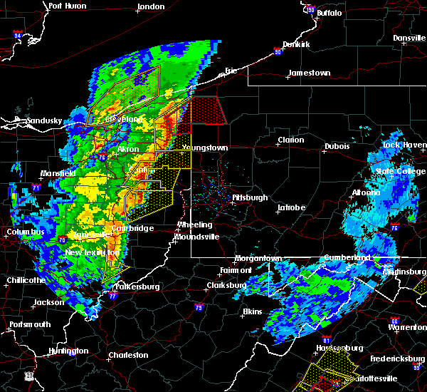 Radar Image for Severe Thunderstorms near Tuscarawas, OH at 4/14/2019 6:22 PM EDT