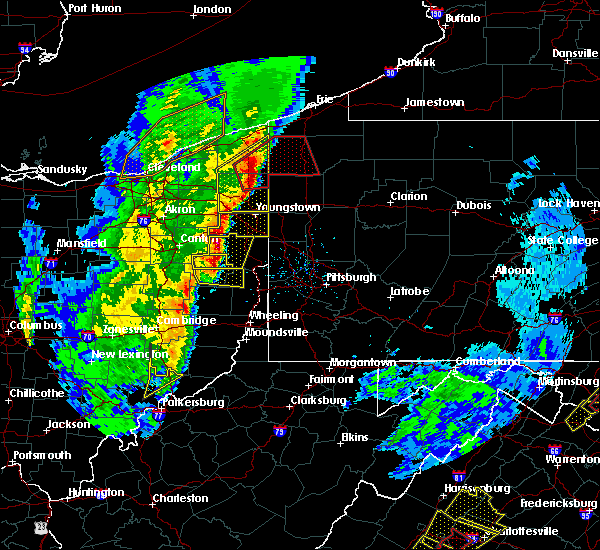 Radar Image for Severe Thunderstorms near Minerva, OH at 4/14/2019 6:29 PM EDT
