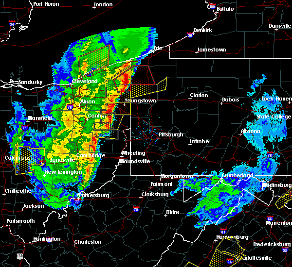 Radar Image for Severe Thunderstorms near Clark, PA at 4/14/2019 6:35 PM EDT
