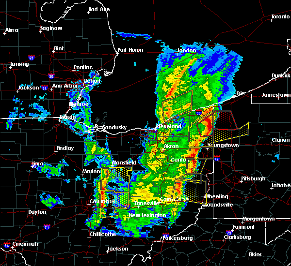 Radar Image for Severe Thunderstorms near Lucas, OH at 4/14/2019 6:39 PM EDT