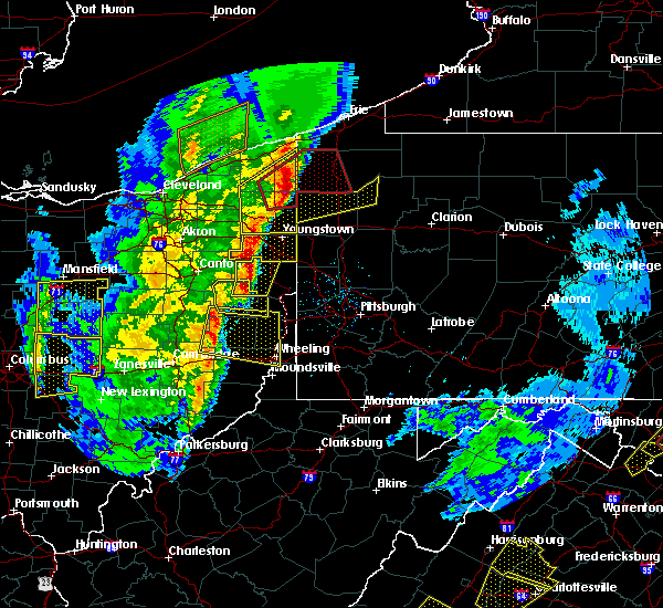 Radar Image for Severe Thunderstorms near Richmond, OH at 4/14/2019 6:42 PM EDT