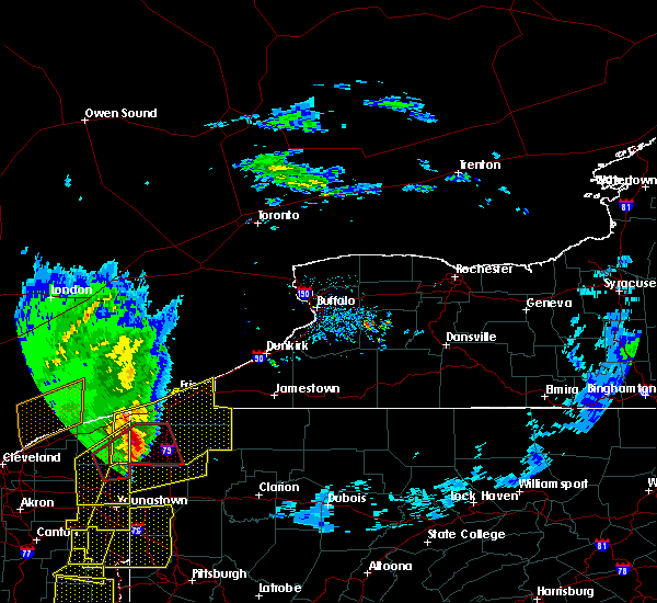 Radar Image for Severe Thunderstorms near Meadville, PA at 4/14/2019 6:45 PM EDT