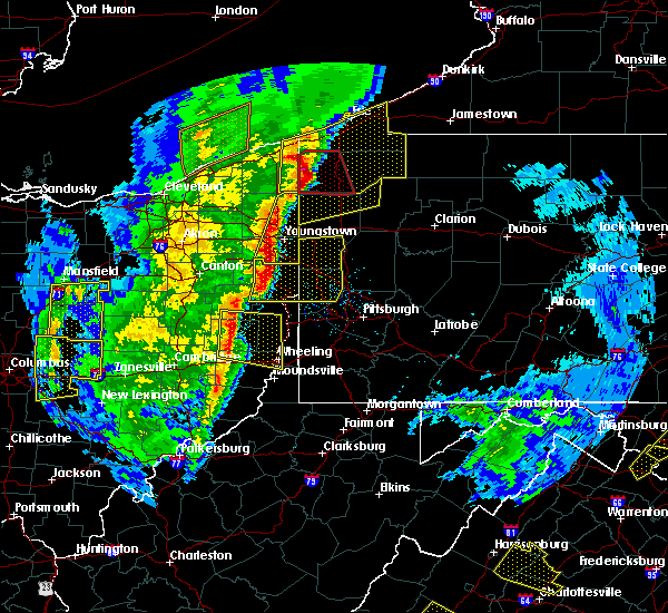 Radar Image for Severe Thunderstorms near Vienna Center, OH at 4/14/2019 6:48 PM EDT