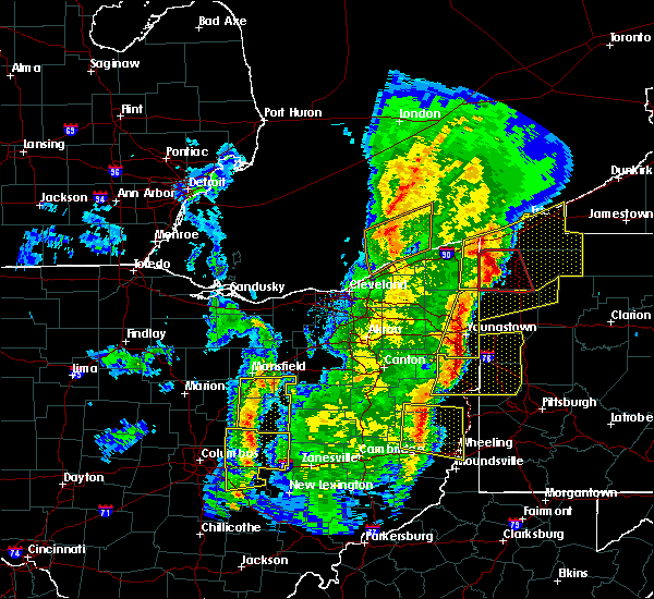 Radar Image for Severe Thunderstorms near Lucas, OH at 4/14/2019 6:51 PM EDT