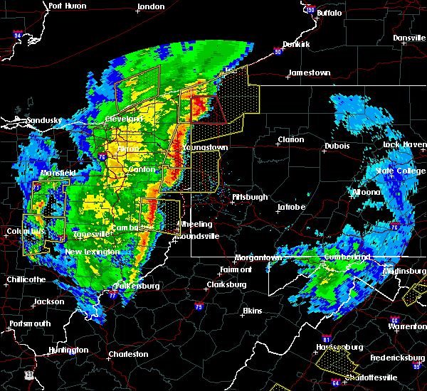 Radar Image for Severe Thunderstorms near Adamsville, PA at 4/14/2019 6:52 PM EDT