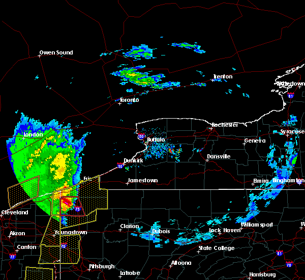 Radar Image for Severe Thunderstorms near Meadville, PA at 4/14/2019 6:52 PM EDT