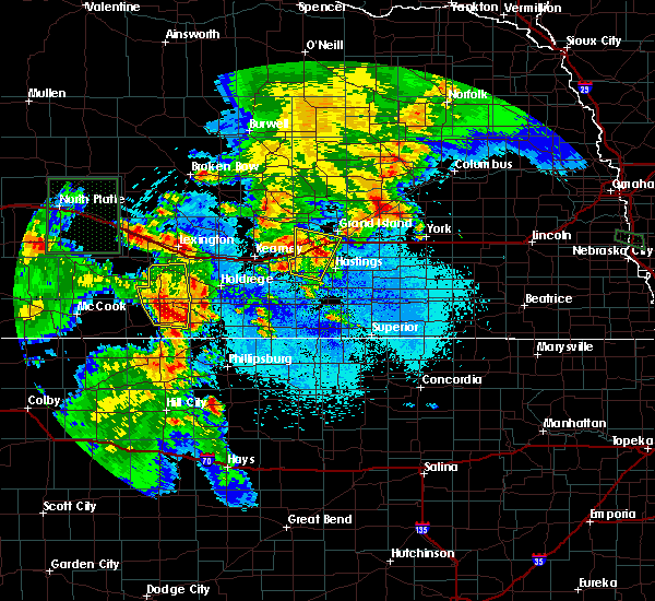 Radar Image for Severe Thunderstorms near Grand Island, NE at 6/10/2015 8:08 PM CDT