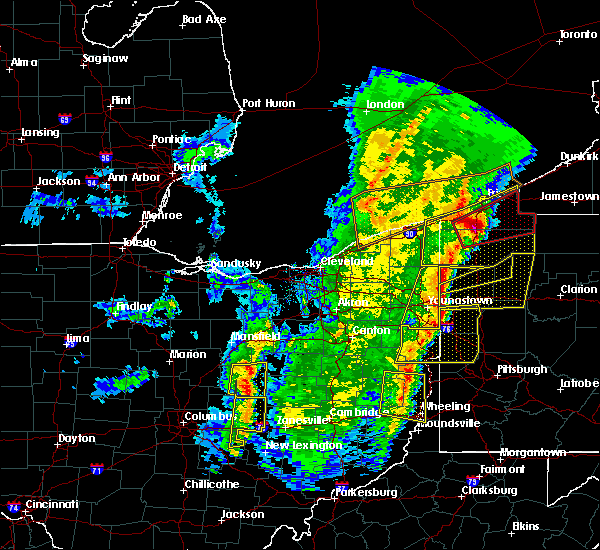 Radar Image for Severe Thunderstorms near Howard, OH at 4/14/2019 7:04 PM EDT