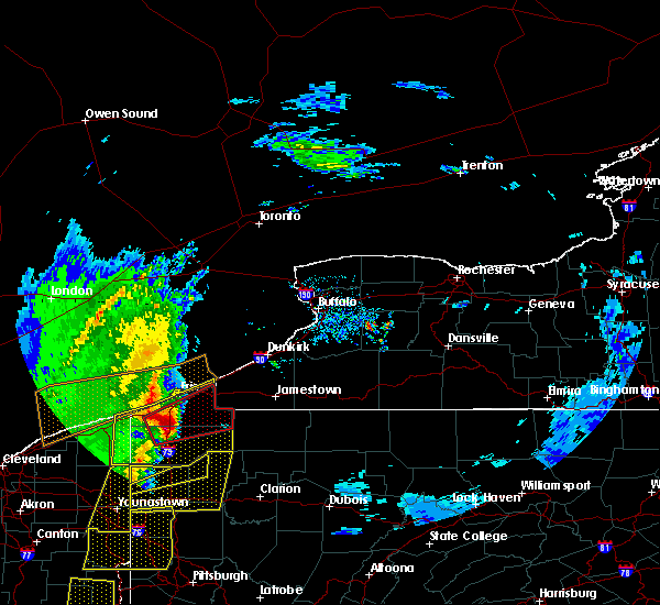 Radar Image for Severe Thunderstorms near Platea, PA at 4/14/2019 7:04 PM EDT