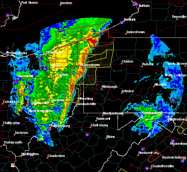 Radar Image for Severe Thunderstorms near Utica, PA at 4/14/2019 7:04 PM EDT