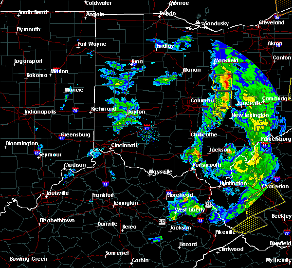 Radar Image for Severe Thunderstorms near St. Louisville, OH at 4/14/2019 7:10 PM EDT