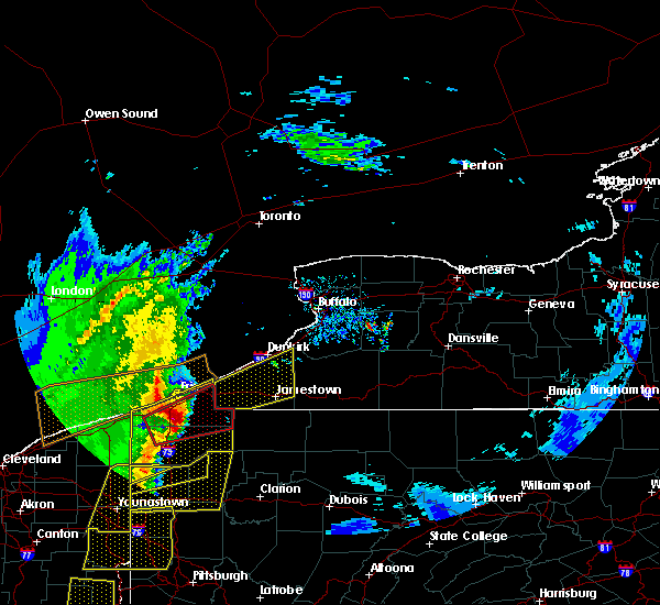 Radar Image for Severe Thunderstorms near Meadville, PA at 4/14/2019 7:10 PM EDT