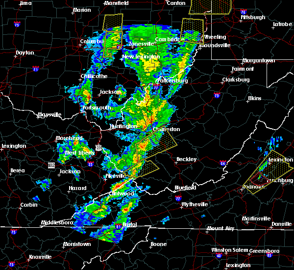 Radar Image for Severe Thunderstorms near Belle, WV at 4/14/2019 7:11 PM EDT
