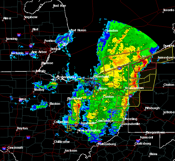 Radar Image for Severe Thunderstorms near Howard, OH at 4/14/2019 7:17 PM EDT
