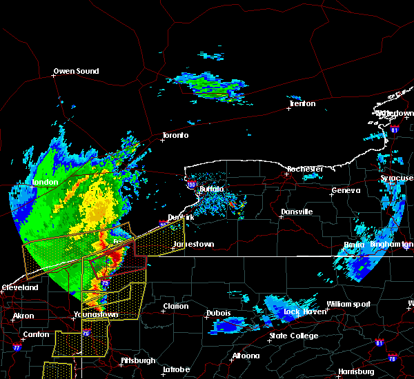 Radar Image for Severe Thunderstorms near Meadville, PA at 4/14/2019 7:17 PM EDT