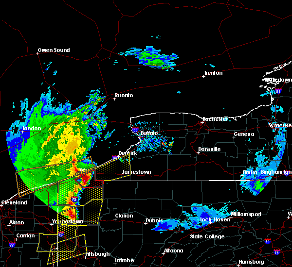 Radar Image for Severe Thunderstorms near McKean, PA at 4/14/2019 7:20 PM EDT