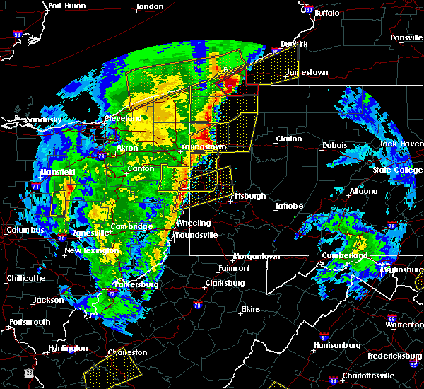 Radar Image for Severe Thunderstorms near Prospect, PA at 4/14/2019 7:20 PM EDT