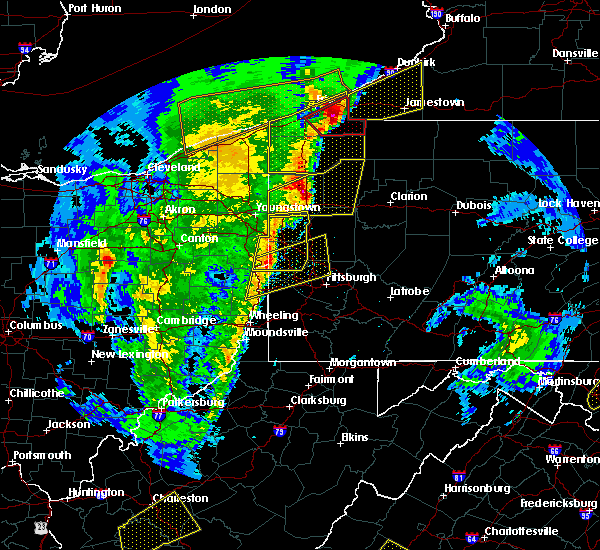 Radar Image for Severe Thunderstorms near New Wilmington, PA at 4/14/2019 7:26 PM EDT
