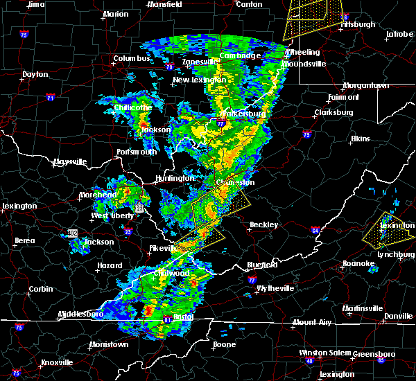 Radar Image for Severe Thunderstorms near Belle, WV at 4/14/2019 7:26 PM EDT