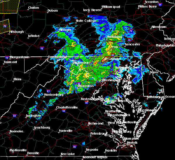 Radar Image for Severe Thunderstorms near Union Bridge, MD at 4/14/2019 7:38 PM EDT