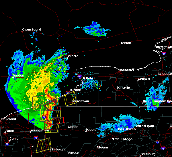 Radar Image for Severe Thunderstorms near Meadville, PA at 4/14/2019 7:38 PM EDT
